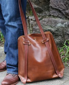 Amazing leather tote bag. I have used it a s a diaper bag, purse and even an overnight bag. Love the convertible straps too.