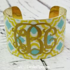 This Gorgeous Monogrammed Cuff Bracelet is only $17.95 from www.cordiallee.com