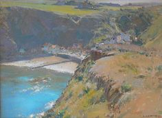Sheltered Bay Staithes - Oil 9x12