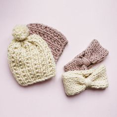 Jelly beanie and blueberry muffin headband Morgane Mathieu for We are Knitters