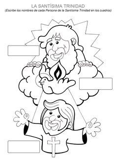 El Rincón de las Melli: La Santísima Trinidad para completar y colorear