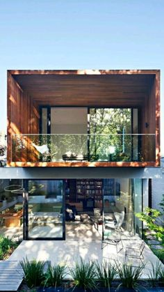 Cantilever Architecture, Modern Architecture, Residential Architecture, Dream Home Design, Modern House Design, Villa Design, Modern Wood House, Modern Home Exteriors, Modern Glass House