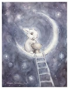 The Moon rabbit, also called the Jade Rabbit, is a rabbit that lives on the moon in East Asian folklore.