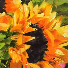 """sunflower"" - Original Fine Art for Sale - © Kim Smith"
