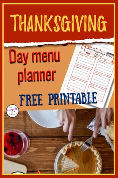 Free Thanksgiving Day menu planner helps you organize the entire meal all in one place. See at a glance what you need to prepare