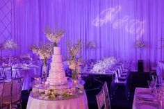 White floral cake table
