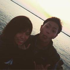 【95mika0104】さんのInstagramをピンしています。 《. . .  #sunset バックにとおもったけど、遅かった。。。笑 . ほんと陽落ちるの早い。。😭 . . #遠距離#couple#japan #japagirl#love#happy  #blue#sun#beach#sea #カップル#photo#instagood  #instapic#tg860#olympus  #tg860のある生活#genic_mag #genic#camera#海#ビーチ #カメラ女子#dayoff#holiday #夕日#写真#サンセット#boo .》