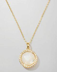 Ippolita Rock Candy 18k Gold Mini Lollipop Diamond Necklace, Mother-of-Pearl - Bergdorf Goodman