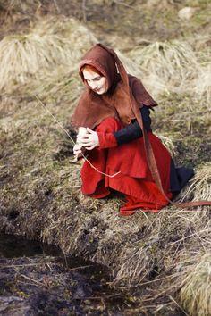 medieval dress. long tail by ~Antalika