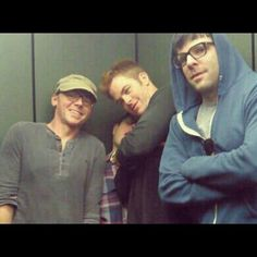 Funny that i found this on pinterest when i know who took this photo. -- Simon Pegg, J.J. Abrams, Chris Pine, & Zachary Quinto