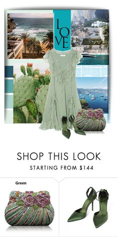 """""""Christian Dior (dress - green)"""" by lgeorgiou ❤ liked on Polyvore featuring Christian Dior, Burberry and emeraldgreen"""