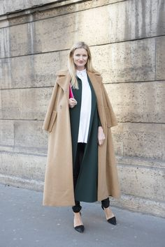Pin for Later: 38 Flawless Street Style Looks From Paris Haute Couture Week Street Style at Paris Haute Couture Fashion Week Spring 2016 Candice Lake wearing a Dice Kayek coat and shirt, Helmut Lang jeans, a Jimmy Choo bag, and Alexander Wang heels.