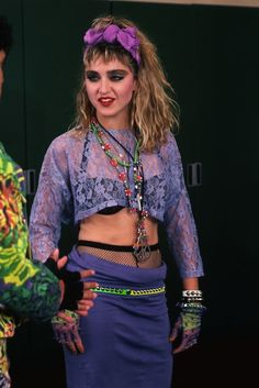 """Madonna backstage with her two dancers from the """"Virgin Tour."""" Description from pinterest.com. I searched for this on bing.com/images"""