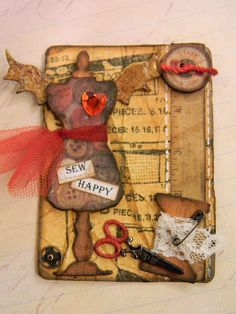 Fun ATC and gift tin tutorial by Anita Houstin featuring several Tim Holtz Alterations dies.