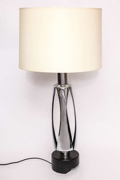 Signed rembrandt floor lamp with large slag glass shade pinterest 1970s futuristic polished nickel table lamp aloadofball Image collections
