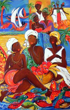 Shop for africa art from the world's greatest living artists. All africa artwork ships within 48 hours and includes a money-back guarantee. Choose your favorite africa designs and purchase them as wall art, home decor, phone cases, tote bags, and more! African Art Paintings, Haitian Art, Caribbean Art, Art Africain, Africa Art, Black Artwork, Tropical Art, African American Art, Black Women Art