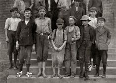 """Shorpy Historical Photo Archive :: Corps de Ballet: 1912  """"Photos taken during noon hour, October 23rd, 1912, at the Loray Mills, Gastonia, N.C. They said they were working and went in to work. At night I counted over thirty children coming out when the whistle blew, and they seemed to be from ten to twelve years old. The Superintendent was much disturbed over the photos."""" Photograph and caption by Lewis Wickes Hine. 