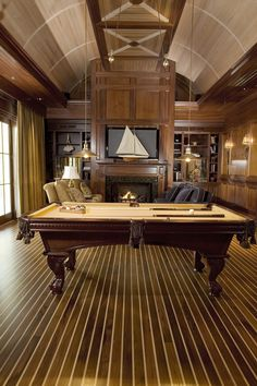 With a billiard room in the house, family time is fun and exciting. To create a classic billiard room you will need to have some ways. Billard Bar, Pool Table Room, Pool Tables, Dining Tables, Casa Loft, Cigar Room, Game Room Decor, Game Rooms, Wall Decor