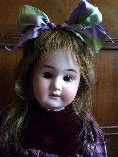 """23"""" Schoenau & Hoffmeister HTF #1700 with Antique Bisque Head Doll"""