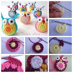 Cute crochet owls ! Free pattern & video--> http://wonderfuldiy.com/wonderful-diy-little-crochet-owl/ #diy #crochet