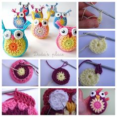 crochet owl  free pattern #diy #craft #owl