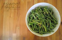 A Sweet Fragrance: Honey Mustard Green Bean Salad