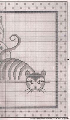 <3 artistic cats cross stitch pattern part two