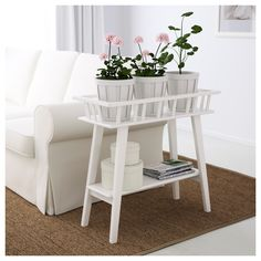 IKEA - LANTLIV Plant stand white