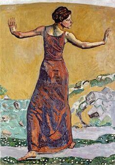 Joyous Woman by Ferdinand Hodler