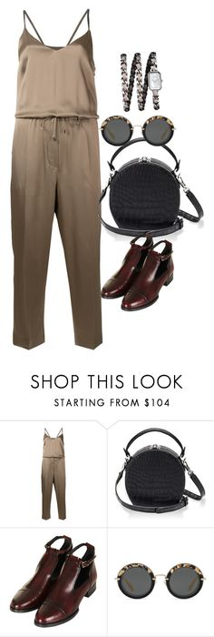 """Untitled #3190"" by erinforde ❤ liked on Polyvore featuring Brunello Cucinelli, Bertoni, Topshop, Miu Miu and Chanel"