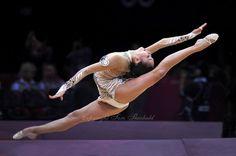 August 9, 2012; London, Great Britain; ALIYA GARAEVA of Azerbaijan performs ball routine during day 1 rhythmic gymnastics qualifications at 2012 London Olympics.