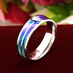 #Sterling #Silver #Cloisonne #Finger #Ring, so nice.