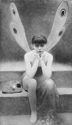 Winged.  Poor Little Dragonfly - Fernand Pelez (1843-1913)