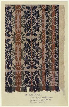 John Mellinger coverlet, woven in Pennsylvania, 1912