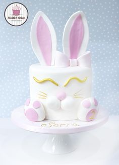 Rabbit birthday cake. Friddle's cakes