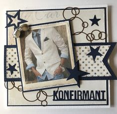 Kirstens Hobbyblogg: Konfirmasjonskort til gutt. Copic Markers, Frame, Cards, Design, Decor, Decoration, Decorating, A Frame, Dekorasyon