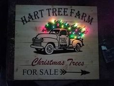 Customize this awesome Christmas sign with your family's farm name! Great to set the ambiance for the holidays! Can even be outside! 22x18 lights have a switch in the back no plug in needed.