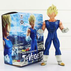"10"" 25CM Dragon Ball Z Super Saiyan Vegeta PVC Action Figure Collection Model Toys Blue Suit Yellow Hair #Affiliate"