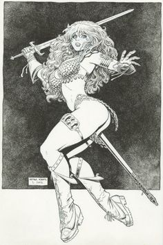 Red Sonja by Arthur (Art) Adams Comic Art