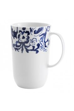 By Vera Wang Wedgwood Vera Simplicity Indigo Chevron Mug at Waterford Wedgwood Royal Doulton, Tanger Outlets, San Marcos, TX or call 1-800-203-4540 or 512-396-4025.  We ship.