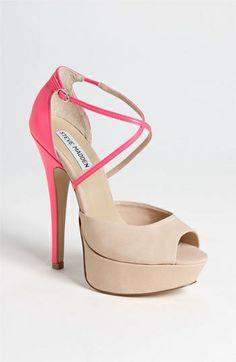 coral/neutral heels