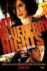 My blueberry nights (Wong Kar Wai, 2007). Norah Jones, Jude Law, Natalie Portman, Rachel Weisz, David Strathairn, Hector A. Leguillow. Elizabeth é unha moza que comeza unha viaxe espiritual a través de América para recompoñer a súa vida tras unha ruptura. No camiño, enmarcada entre a paisaxe urbana de Nova York e as espectaculares vistas da lendaria Ruta 66, atoparase cunha serie de enigmáticos personaxes que lle axudarán na súa viaxe. http://www.filmaffinity.com/es/film949020.html