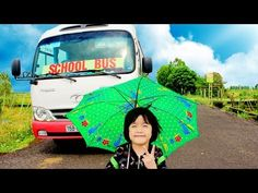 SuperHero Kids Go To School By Little Buses Wheel On The Bus Song Nursery Rhymes - YouTube