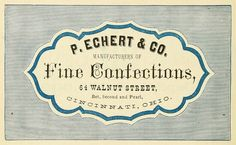 fine confections / Harpel's Typograph