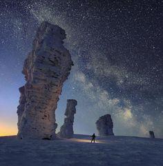 Маньпупунёр/Manpupuner rock formations/Russia/ural mountains/komi  republic