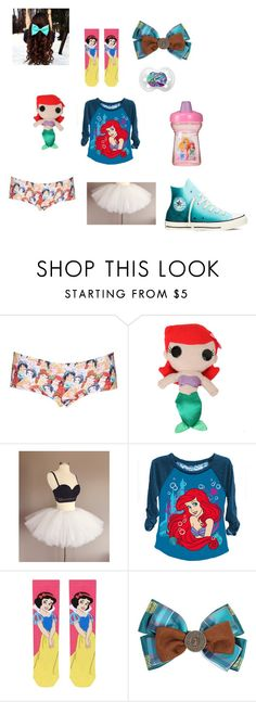Little by monkeygirl300100 on Polyvore featuring Topshop, Converse and Disney