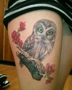 Owl tattoo designs have been popular for its symbolic meanings. Some of popular owl tattoos are barn, tribal, on chest, old school, skull.