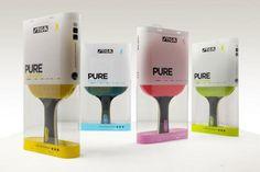 + Design de embalagem :     Eficiente trabalho na embalagem para as raquetes de tenis de mesa da Stiga Sports.