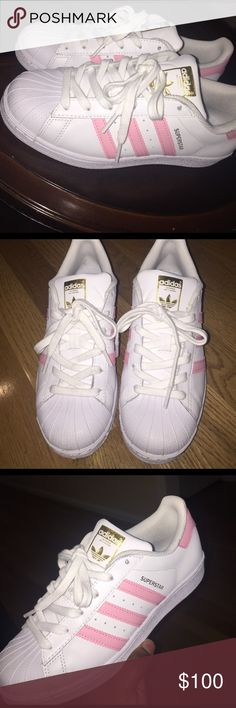 Adidas SUPERSTAR Light Pink Never worn before, size 6 in women...  $100 but negotiable Adidas Shoes Sneakers