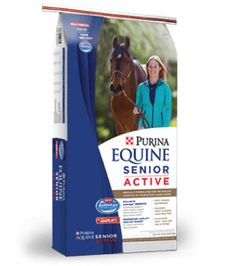14% Protein10% Fat18% FiberDesigned to meet the unique nutritional needs of your active senior horse. Formulated for active aging horses that can still chew and digest hay.Equine Senior Active Horse Feed is designed for moderately active senior horses. It provides high fat and fiber with a controlled starch and sugar formula while delivering all of the vitamins and minerals needed to maintain proper body condition.- Designed to be fed with hay or pasture- High-quality protein to support…